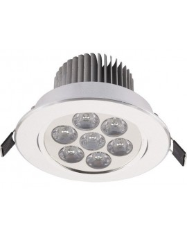 Lampa Oczko DOWNLIGHT LED7 SILVER 6823 Nowodvorski