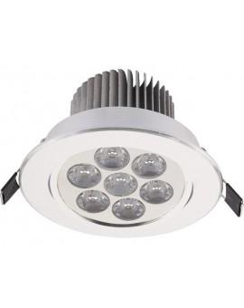 Lampa Oczko DOWNLIGHT LED7 SILVER 6823 Nowodvorski