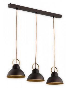 Ceiling Lamp Industrial Hanging lamp Ajla wenge / gold O2373 W3 RWZ