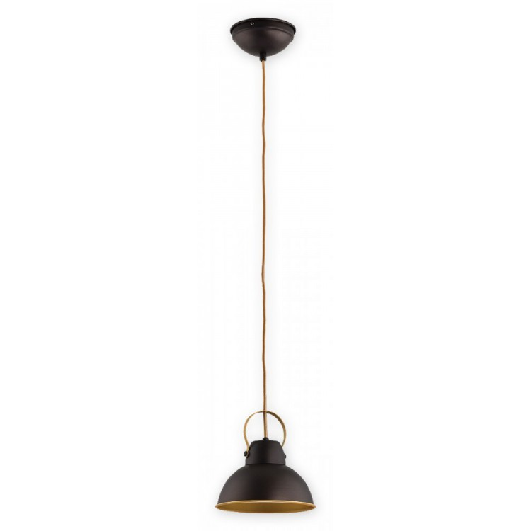 Ceiling Lamp Industrial Hanging lamp Ajla wenge / gold O2374 W1 RWZ