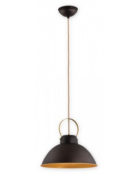 Ceiling Lamp Industrial Hanging lamp Ajla wenge / gold O2375 W1 RWZ