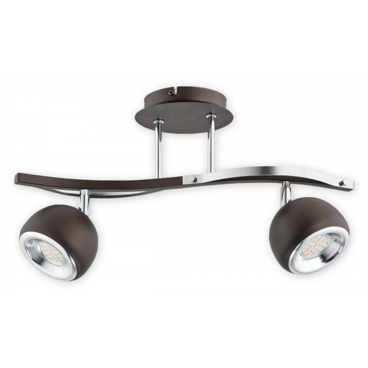 Modern Ceiling Spot movable source of light Devi Wenge / Chrome O2412 P2 RW