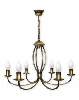 Lampa Żyrandol Korona 396/W6 Lemir