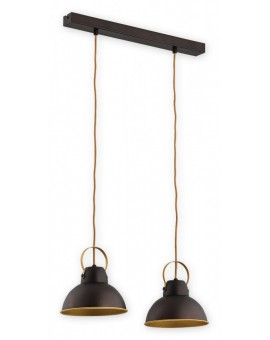 Ceiling Lamp Industrial Hanging lamp Ajla wenge / gold O2372 W2 RWZ