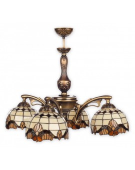 Lampa Żyrandol Witrażowy Vitrus O2064 W4 PAT Lemir