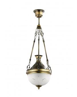 Lampa Żyrandol mosiądz patyna DRAGON 780 Jupiter