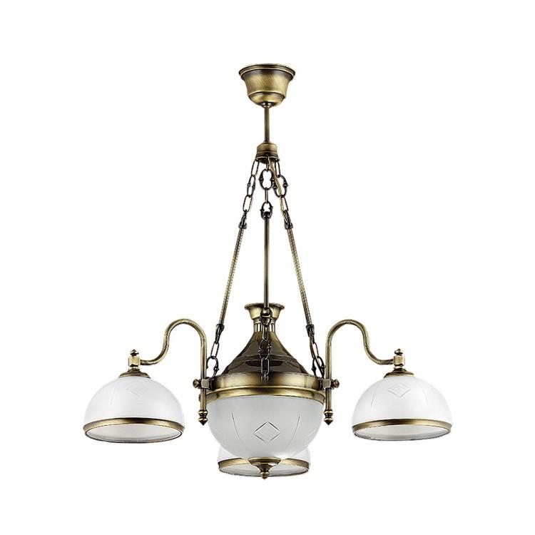 Lampa Żyrandol mosiądz patyna DRAGON 782 Jupiter