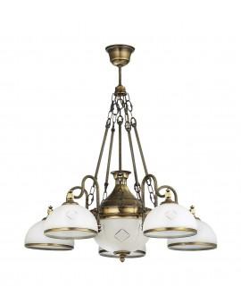 Lampa Żyrandol mosiądz patyna DRAGON 784 Jupiter