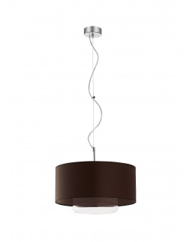 Deckenlampe Hängelampe Modern Glas Schirm AVEO AV 1 Wenge Transparent 1118