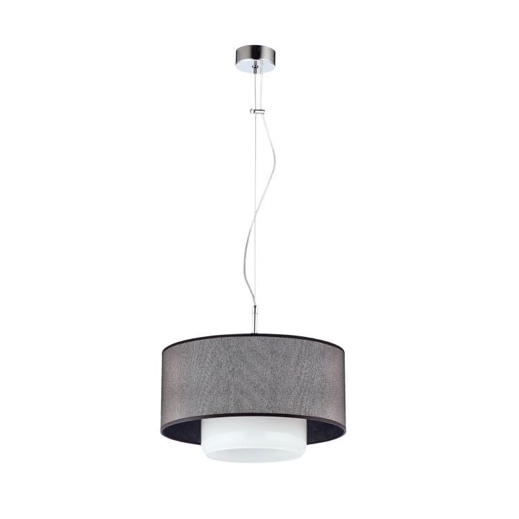 Deckenlampe Hängelampe Modern Glas Schirm AVEO AV1 Schwarz Silbern Weiß 1331