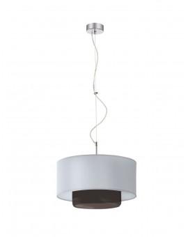 Deckenlampe Hängelampe Modern Glas AVEO AV 1 Silbern berußt Schirm 1122
