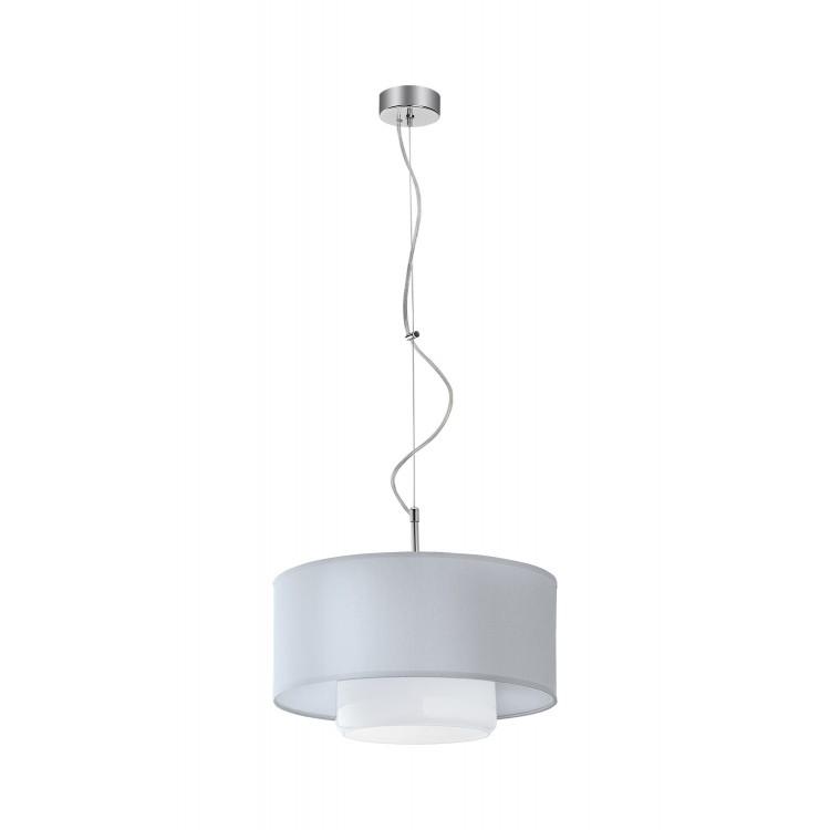 Deckenlampe Hängelampe Modern Glas Schirm AVEO AV 1 Silbern Weiß 1120