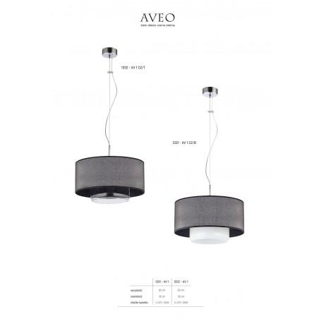 Lampa sufitowa Zwis AVEO AV1 cz/t 1332 Jupiter