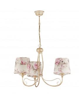 Lampa Żyrandol SARA abażur kwiaty 1283 Jupiter