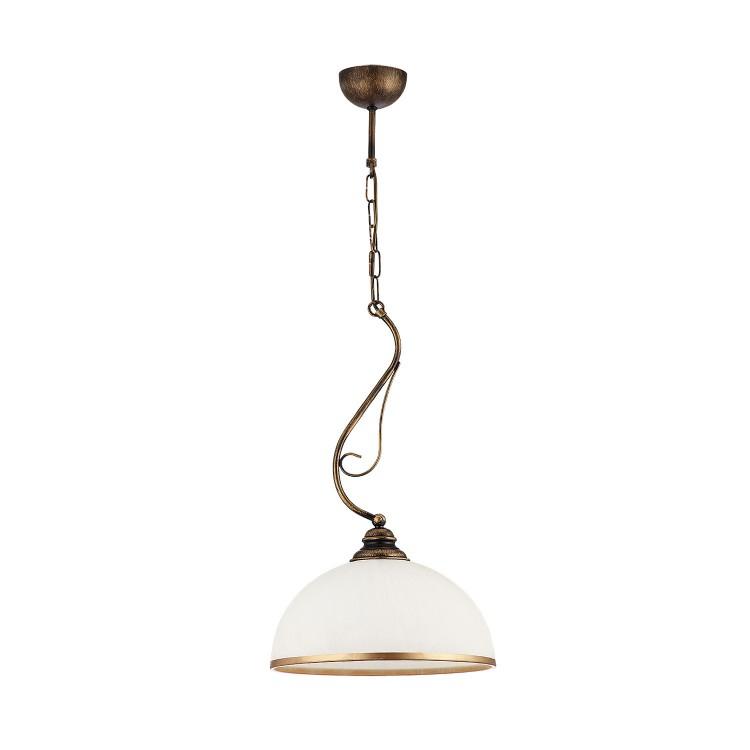 Deckenlampe Deckenleuchte Klassisch XSARA XS 1 kol 1174 Metall Glas dunkelgold weiß