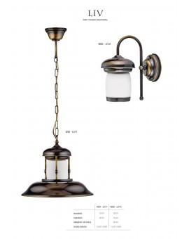 Lampa sufitowa Zwis klasyczny LIV LIV 1 P 1251 Jupiter