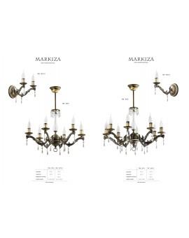 Lampa sufitowa Żyrandol klasyczny MARKIZA MZ 6 765 Jupiter