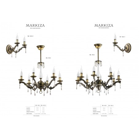 Lampa sufitowa Żyrandol klasyczny MARKIZA MZ 8 766 Jupiter