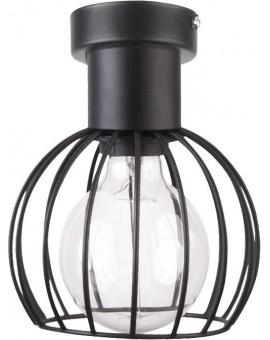 Lampa Plafon Luto koło 1 czarny mat 31157 Sigma