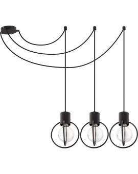 Lampa Zwis Aura koło 3 czarny mat podwieszana 31085 Sigma