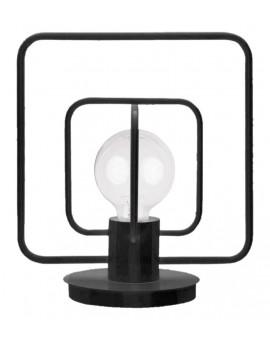 Lampa biurkowa Aura kwadrat czarny połysk 50082 Sigma