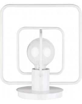 Lampa biurkowa Aura kwadrat biały połysk 50083 Sigma