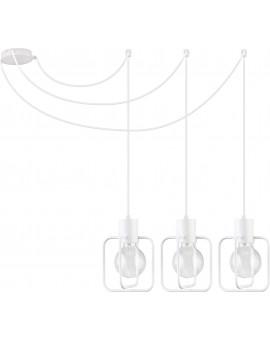 Lampa Zwis Aura kwadrat 3 biały połysk 31118 Sigma