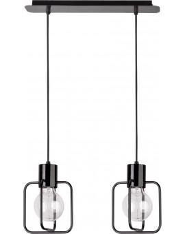 Lampa Zwis Aura kwadrat 2 czarny połysk 31111 Sigma