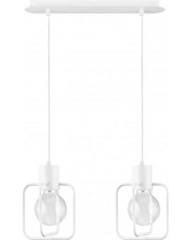 Lampa Zwis Aura kwadrat 2 biały połysk 31122 Sigma