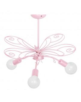Plafon dziecięcy Motyl różowy 3933 Decoland