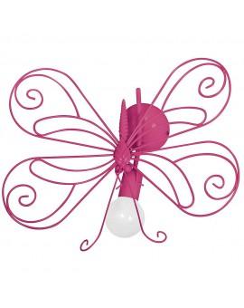 Kinkiet dziecięcy Motyl ciemny róż 1 5328 Decoland