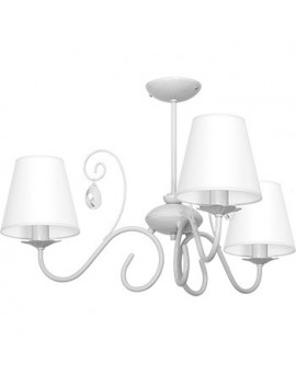 Kids room Childrens Girls Bedroom lighting chandelier white shade Laura gray 9828