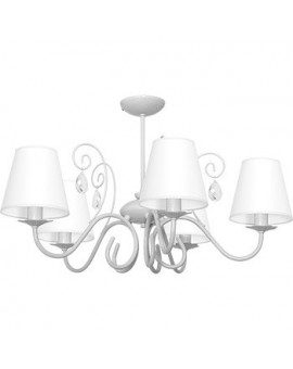 Kids room Childrens Girls Bedroom lighting chandelier white shade Laura gray 9829