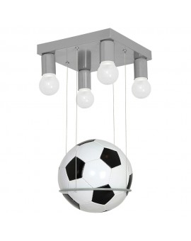 Kinderlampe Deckenlampe Kinderleuchte Metall Modern Football Ball Grau 9830