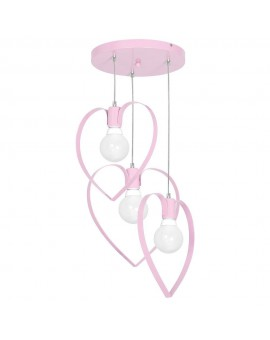 Kids room chandelier Childrens Girls Bedroom lighting Amore light pink 9954