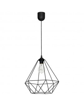 Loft style Wire Hanging lamp Basket black 7214