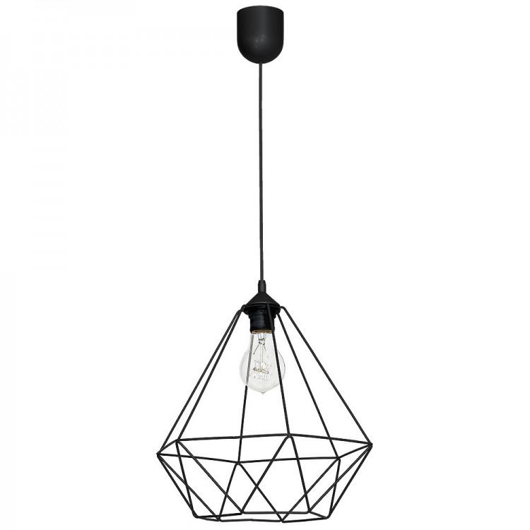 Loft style Wire Hanging lamp Basket black 7214