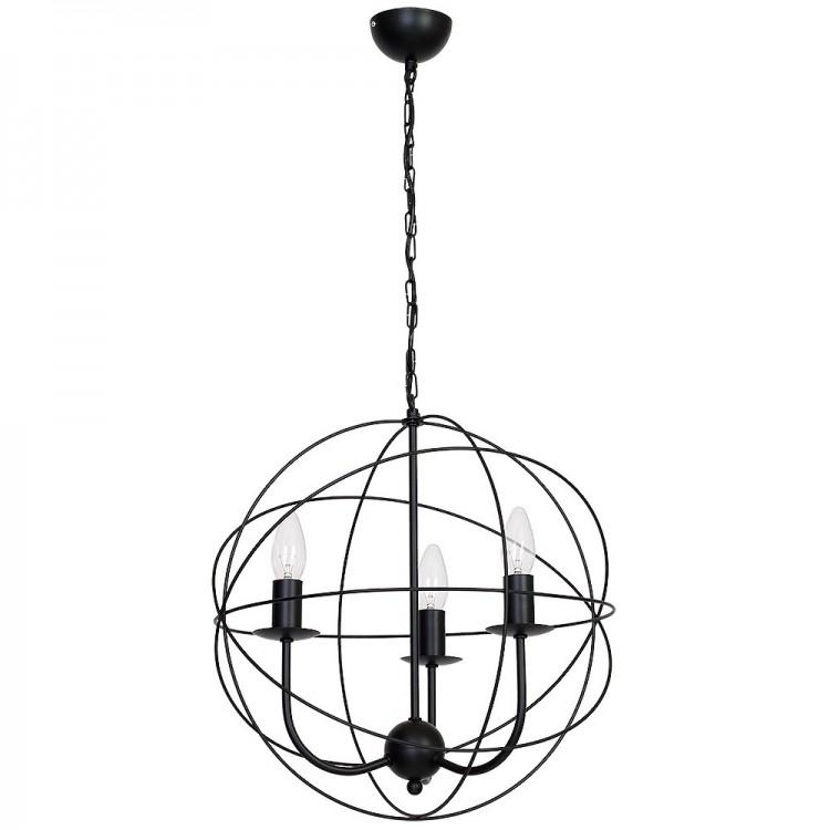 Lampa Żyrandol Globe czarny 5134 Luminex
