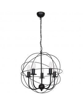Lampa Żyrandol Globe czarny 5135 Luminex