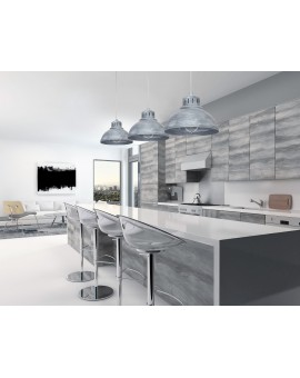 Lampa Żyrandol industrialny Sven betonowy szary 9049 Luminex