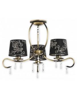 Deckenlampe Kronleuchter Metall Schirm Kristall Barsa Patina O2473 W3 PAT