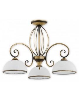 Deckenlampe Kronleuchter Metall Klassisch Indra Patina O2493 W3 PAT