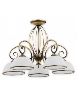 Deckenlampe Kronleuchter Metall Klassisch Indra Patina O2495 W5 PAT