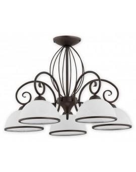 Deckenlampe Kronleuchter Metall Klassisch Indra Rost wenge O2495 W5 RW