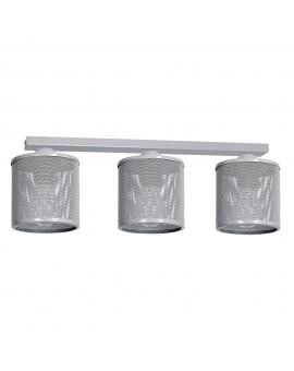 Deckenlampe Deckenleuchte Metall Käfig Modern Design Net Grau 3-flg. 9692
