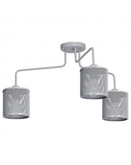 Deckenlampe Deckenleuchte Metall Käfig Modern Design Net Grau 3-flg. 9694