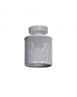 Deckenlampe Deckenleuchte Metall Käfig Modern Design Net Grau 1-flg. 9690
