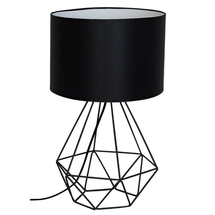 Loft style Wire table lamp Basket Black 7201