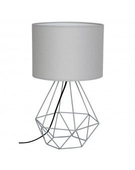 Lampka nocna druciana Basket szary 1 7202 Decoland