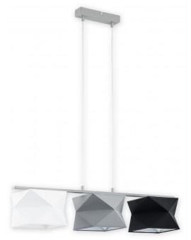 Lampa Zwis Espero O2773 W3 biały/szary/czarny abażur Lemir